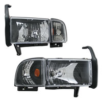 Ram 1994-2002 Headlights + Signal Lights Chrome