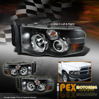 Ram 2002-2005 LED CCFL Halo Projector Headlights - Black