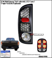 Ram 2002-2006 JDM LED Tail Lights  Black