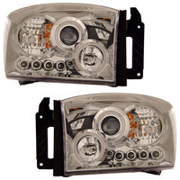 Ram 2006-2008 Projector Healights CCFL Chrome