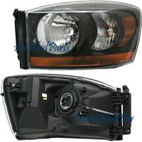 Ram 2006-2008 Standard Headlights Black