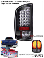 Ram 2007-2008 LED Tail Lights Black