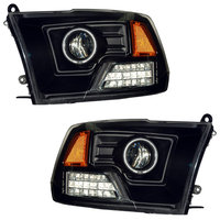 Ram 2009-2010 Projector Headlights Black