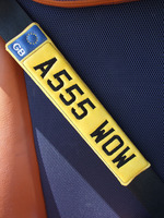 Set Of 2 Seat Belt Pads Your Own Numberplate Or Name