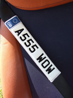 Set Of 2 Your Own Numberplate Or Name Seat Belt Pads