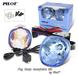 2 x Pilot Round Universal Blue Lens Fog Lights Kit with Light Bulbs