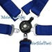 5Point Cam Lock Safety Racing Seat Belt Harness Blue