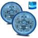 "7"" H6024 Round Halo Headlights - Blue"