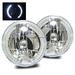 "7"" H6024 Round LED Strip Headlights - Chrome"