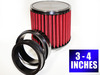 Cone Air Filter with Turbine Adjustable 3-4 Inch