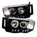 Dodge Ram 02-05 Ccfl Led Projector Headlights - Black