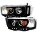 Dodge Ram 02-05 Halo Projector Headlights - Black