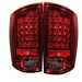 Dodge Ram 02-05 Led Tail Lights - Red Clear