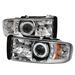 Dodge Ram 94-01 1Pc Ccfl Led Projector Headlights - Chrome