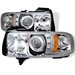 Dodge Ram 94-01 Halo Projector Headlights (Amber) - Chrome