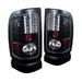 Dodge Ram 94-01 Led Tail Lights - Jdm Black