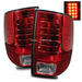 Ram 1500 2009-2010 LED Tail Lights - Red Clear
