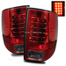 Ram 1500 2009-2010 LED Tail Lights - Red Smoke
