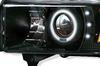 Ram 1994-2001 CCFL Halo Projector Headlights Black