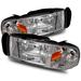 Ram 1994-2001 Headlights - Chrome Crystal 1 Piece Style