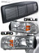 Ram 1994-2001 Headlights + Grill Clear