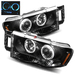 Ram 2002-2005 Halo LED Projector Headlights - Black