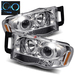 Ram 2002-2005 Halo LED Projector Headlights - Chrome