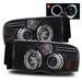 Ram 2002-2005 Halo Projector Headlights - Black