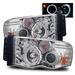 Ram 2002-2005 Halo Projector Headlights - Chrome