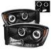 Ram 2006-2008 LEDV2 Halo Projector Headlights Black