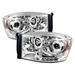 Ram 2006-2008 LEDV2 Halo Projector Headlights Chrome