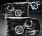 Ram 2009-2010 Projector LED Headlights Black