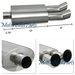 """Universal DTM Style Stainless Steel Muffler Dual 3"""" Tips Exhaust"""