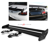Universal Aluminum GT Spoiler Wing - Black Type X Style