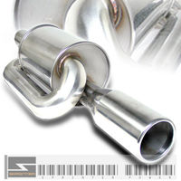 Universal JDM Twin Loop M-Power Style Muffler