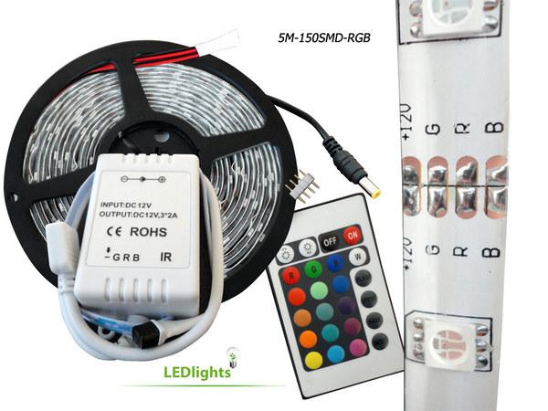 5 Meters 16ft RGB LED Strip Rope Tape Light Waterproof