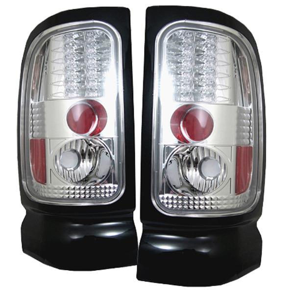 dodge ram 94 01 led tail lights chrome. Black Bedroom Furniture Sets. Home Design Ideas