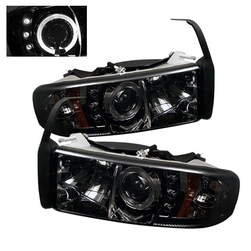 Halo Headlights For 01 Dodge Ram Dodge Ram 94-01 Projector