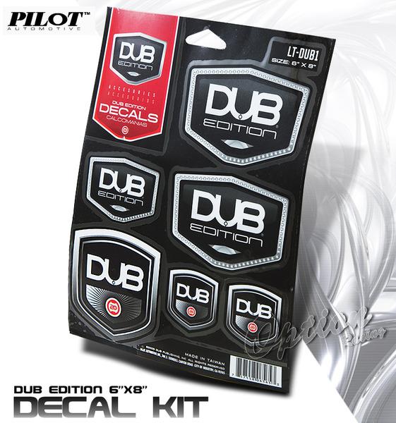 Dub edition decals sticker black chrome