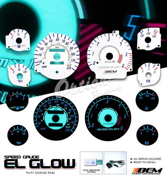 Big Ram El Glow Gauge C Cfb Dad Baf Dde on 1997 Dodge Ram 1500 Headlights
