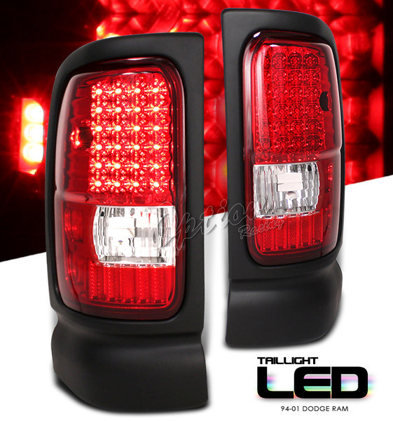 ram 1994 2001 led tail lights red. Black Bedroom Furniture Sets. Home Design Ideas