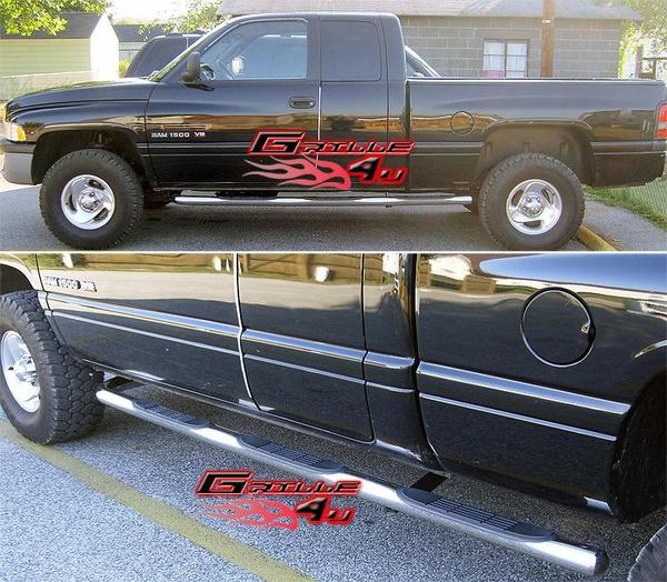Ram 1998-2002 Quad Cab Step Nerf Bars Polished